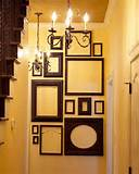 wall decoration ideas with various picture frames in black color for ...