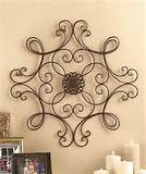 Find Square Scrolled Metal Wall Medallion Decor | Fine For Designs