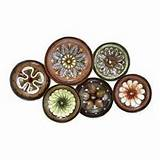 European Decor Metal Sculpture Plate for Dining Room Wall Decor