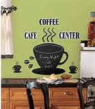 ... Wall Decoration Green Wall White Curtain Coffee Decor For Kitchen