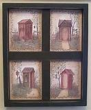 OUTHOUSE BATHROOM WALL DECOR WOODEN WINDOW by deebuzz on Etsy
