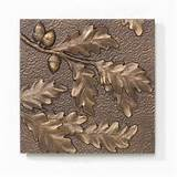 ... Products Oak Leaf Aluminum Wall Decor-10246 at The Home Depot