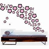 pink + brown flowers wall decals | ThisNext