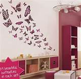 Purple Butterflies Wall Decoration Stickers Wall Decor Stickers Can ...