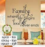 Just Two Olives: Vinyl Wall Decal - Family life and love