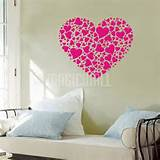 Wall Decals Canada-Wall Stickers - Big Heart - Small Hearts