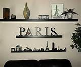 Paris wall borders, sticker ambiance by donna - Dezign Blog