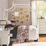 Cheap Bedroom Ideas for Teenage Girls with Flowerly Wall Decor