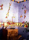 Kids Room Decor with Mural Wall Clown Mural for Kids Room Decor ...