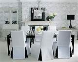 ... Chair Covers : Photo 07 White Dining Room Chair Covers And Wall Decor