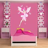 tweet flying fairy wall sticker wall stickers from abode wall art