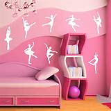 tweet ballet wall sticker set wall stickers from abode wall art