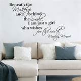 Details about Marilyn Monroe Quote Vinyl Wall Art Sticker Decal