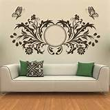 ... about Butterfly Design Floral Circle Wall Art Sticker Transfers