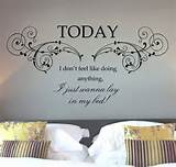 Buy Bruno Mars Lazy Song Quote Wall Art Sticker Decal Mural - Fabulous ...