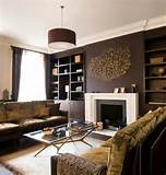 ... living room decorations dark brown wall decor in eclectic living room