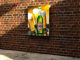 Exterior Designs: Amazing Outdoor Wall Art Becks Beer Brick Wall Style ...