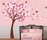 Tree Wall Decal Nursery wall decals trees wall sticker kids baby ...