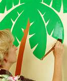 Palm Tree & Surfboard Paint-by-Number Wall Mural Kit | Daily deals for ...