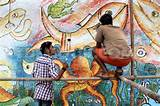 ... largest mural painting is created on a church wall | Demotix.com