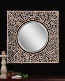 Uttermost Knotted Rattan Natural Mirror 07598
