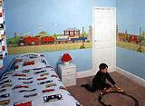 Kids Room Decor with Mural Wall Train Mural for Kids Room Decor ...