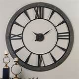 Uttermost 60' Round Metal Wall Clock