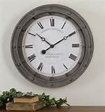 Uttermost 24' Round Metal Wall Clock