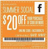 20 Off $100 Printable Coupon from Kirkland's Home
